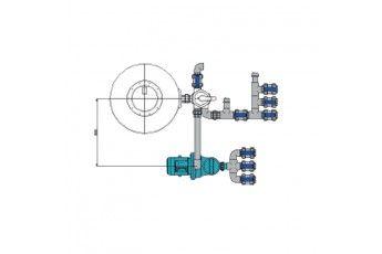 Impianto Filtrazione Piscina Skimmer Completo Da 22 Mc/h