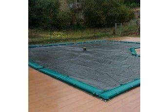Copertura per piscina 4 x 8 mt con tubolari per fissaggio.