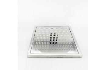 Griglia Per Piscina A Pavimento Quadrata In Acciaio Inox Aisi 304