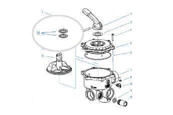 Ricambi Valvola Selettrice Diametro 1 1/2'' E 2''- O-ring Per Selettore Valvola