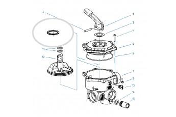 Ricambi Valvola Selettrice Diametro 1 1/2'' E 2''- O-ring Per Molla Valvola