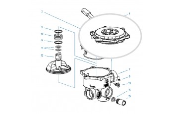 Ricambi Valvola Selettrice Diametro 1 1/2'' E 2''- Coperchio Per Valvola