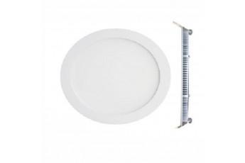 Pannello A Led Bianco Freddo Da Incasso 12 W Rotondo.
