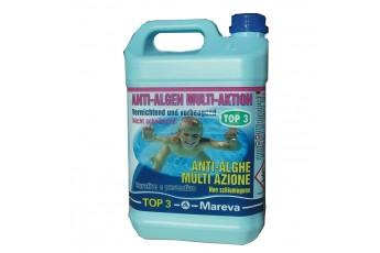 Anti Alghe Multifunzione Top 3 Per Piscina Fuori Terra 5 Lt.
