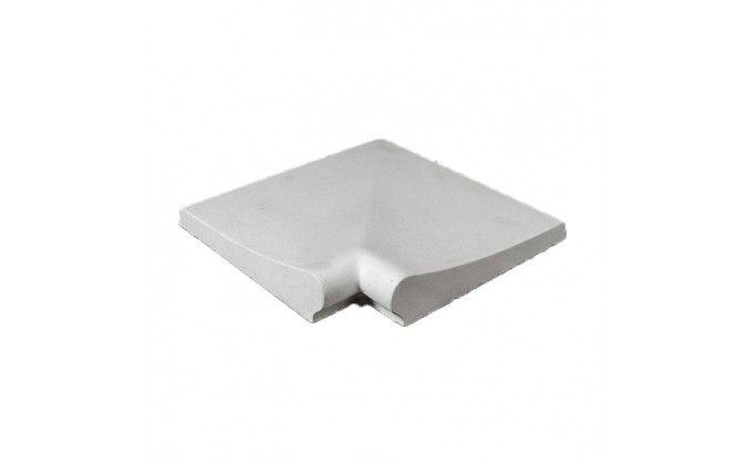 Bordo piscina liscio bianco angolo 90°