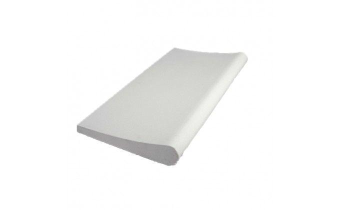 Bordo piscina liscio bianco lunghezza 30 cm diritto.