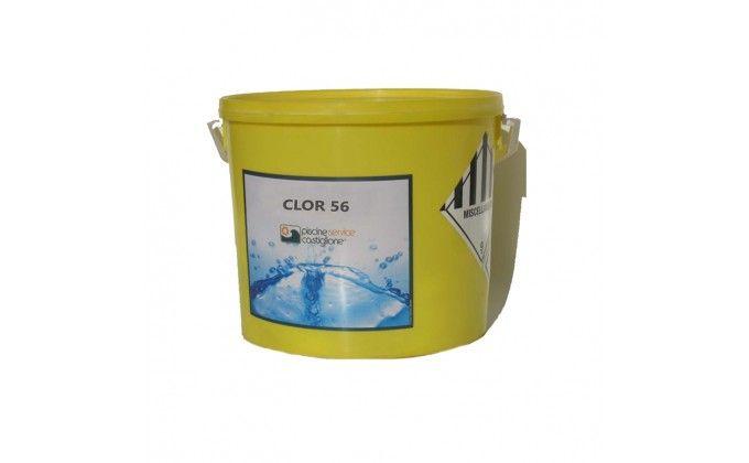 Cloro 56% granuli per piscina, 10 kg. alta qualità.