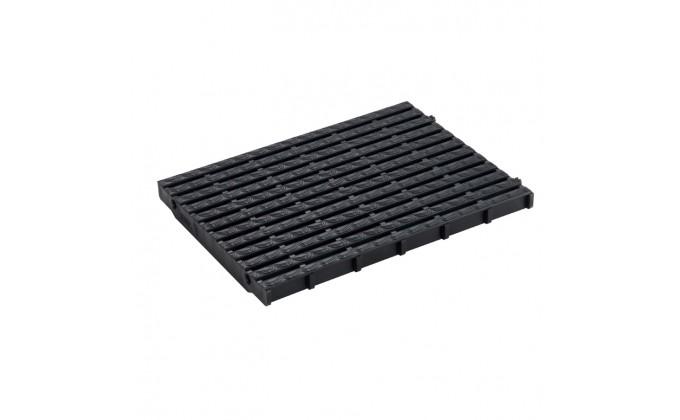 Griglia piscina nera. larghezza 248 mm x h 25 mm.
