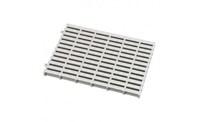 Griglia piscina sfioro bianca. Larghezza 248 mm x h 25 mm. prezzo al mt