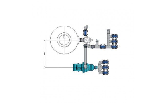 Impianto filtrazione piscina skimmer completo da 10 mc/h