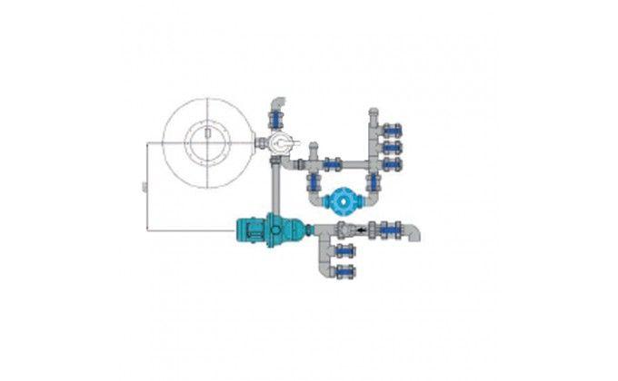 Impianto filtrazione piscina a sfioro completo, 10 mc/h.