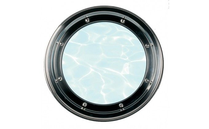 Oblò per piscina in acciaio diametro esterno 500 mm