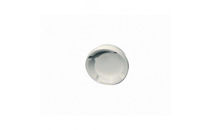 Tappo per bocchetta piscina da parete, colore bianco.