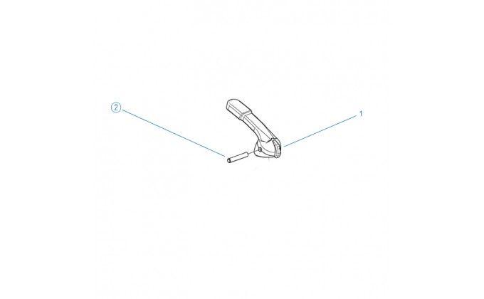 Ricambi valvola selettrice diametro 1 1/2'' e 2''- piolo per maniglia valvola