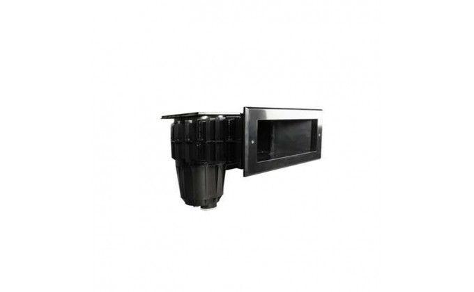 Skimmer sfioratore nero per piscine in pannelli in metallo