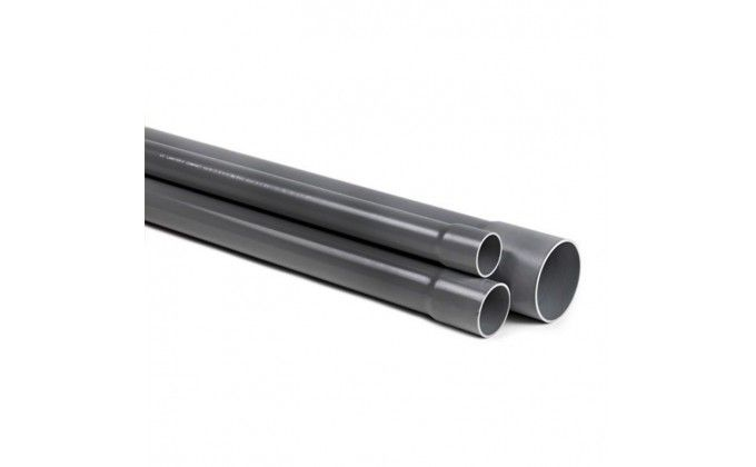 Tubo pvc rigido diametro 125 pn 6. barra da 6 metri