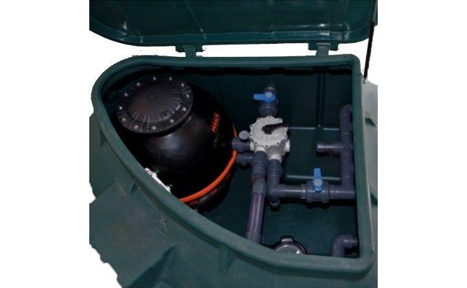 Vano tecnico piscina rotax completo di impianto 22 mc/h.