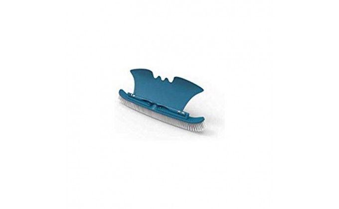 Spazzola piscina in allumino 45 cm manico con alettone