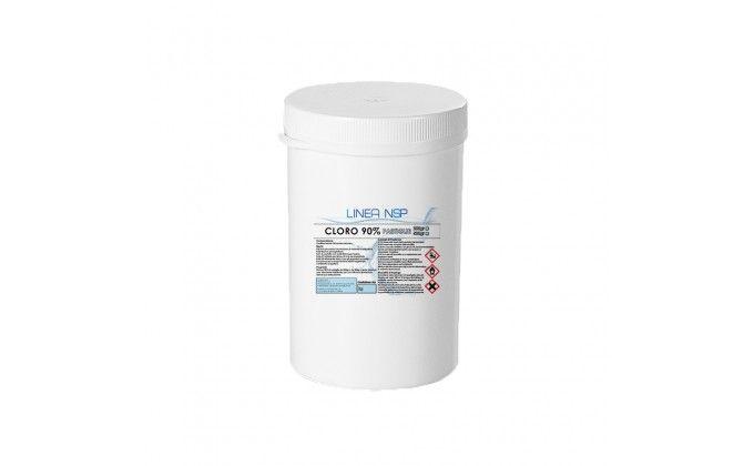 Pastiglie cloro piscina da 200 gr al 90%. barattolo 1 kg