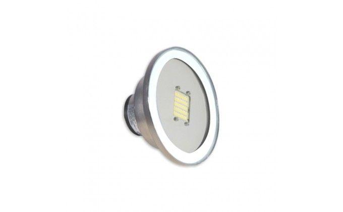 Lampada per piscina Mini White Eco 40 LED in acciaio e vetro