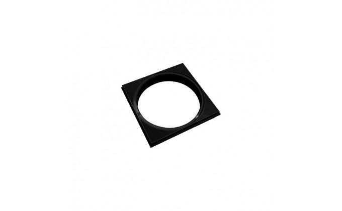 Cornice NERA per coperchio skimmer e presa di fondo piscina con diametro 23 cm