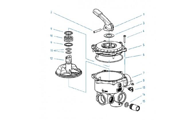 Ricambi valvola selettrice diametro 1 1/2'' e 2''- O-RING per coperchio per valvola