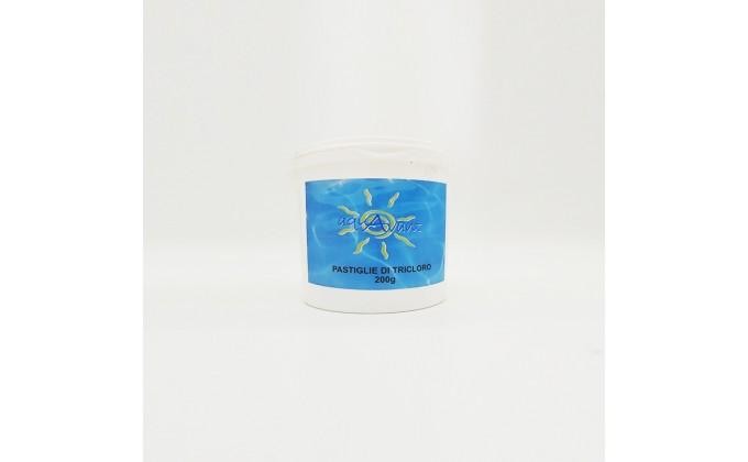 Pastiglie cloro piscina da 200 gr al 90%. secchio da 5 kg AQUAVANT
