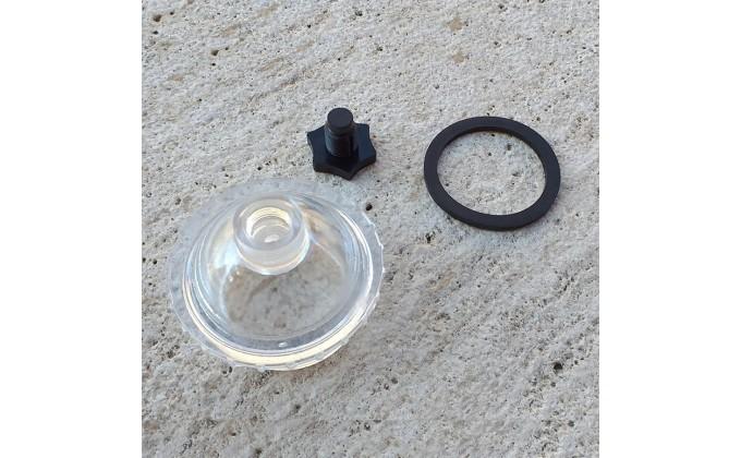 Scarico visore per coperchio filtro Berlino Astral Pool. Visiera trasparente, o ring e spurgo.