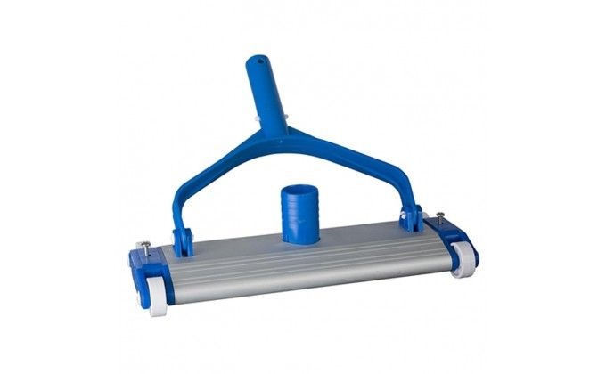 Aspirafango per piscina in alluminio rigido con rotelle.