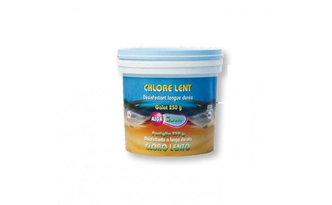 Chlore lent in pastiglie da 250 gr - 5 kg