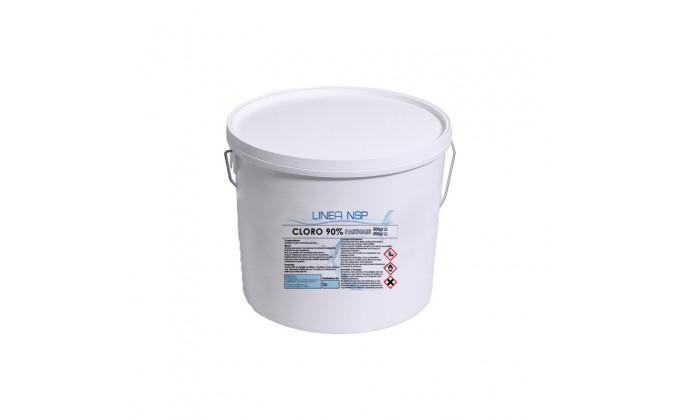 Pastiglie cloro piscina da 200 gr al 90%. secchio da 25 kg