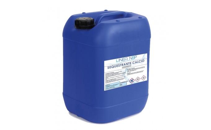 Sequestrante calcio liquido per piscina. tanica da 5 kg.