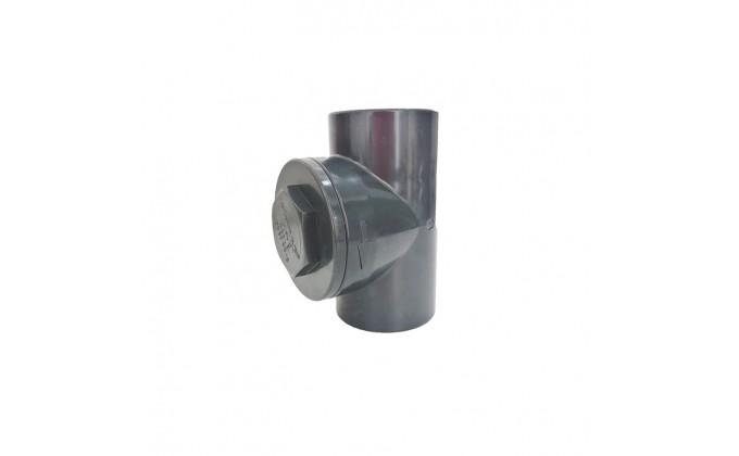 Valvola clapet in pvc grigio diametro 63